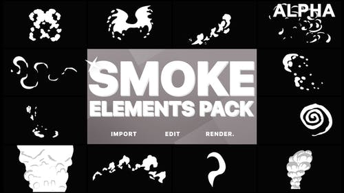 Funny Smoke Elements   Motion Graphics Pack