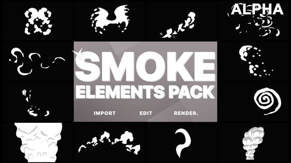 Thumbnail for Funny Smoke Elements | Motion Graphics Pack