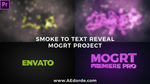 Thumbnail for Smoke to Text Reveal (Mogrt)