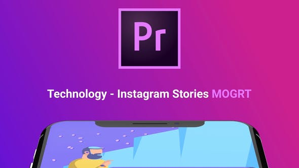 Thumbnail for Instagram Stories About Technology (MOGRT)