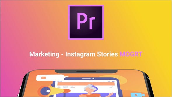 Thumbnail for Instagram Stories About Marketing (MOGRT)