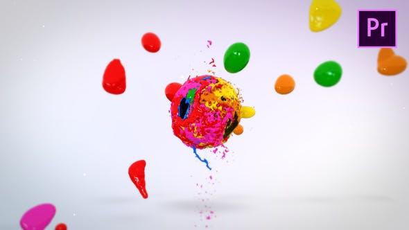 Thumbnail for Mélange de peintures Logo Reveal — Premiere Pro