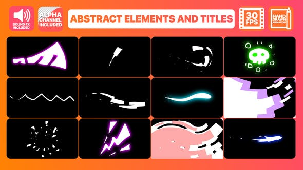 Thumbnail for Abstract Elements And Titles | Premiere Pro MOGRT