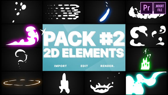Thumbnail for Flash FX Elements Pack 02 | Premiere Pro MOGRT