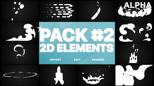 Thumbnail for Flash FX Elements Pack 02 | Motion Graphics Pack