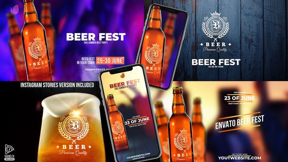 Thumbnail for Beer Fest & Beer Mock-up Pack