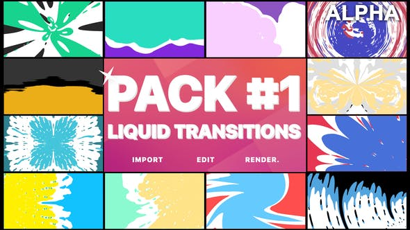 Thumbnail for Liquid Transitions Pack 01 | Motion Graphics Pack