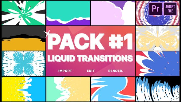 Thumbnail for Liquid Transitions Pack 01 | Premiere Pro MOGRT