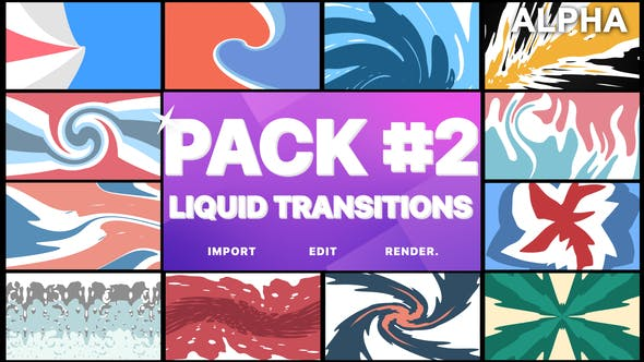 Thumbnail for Liquid Transitions Pack 02 | Motion Graphics Pack