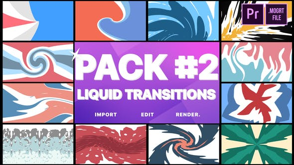 Thumbnail for Liquid Transitions Pack 02 | Premiere Pro MOGRT