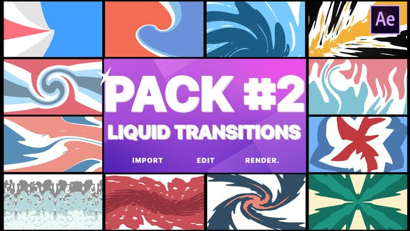 Thumbnail for Liquid Transitions Pack 02 | After Effects