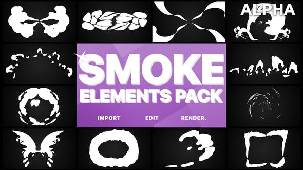 Thumbnail for Smoke Elements Pack | Motion Graphics Pack