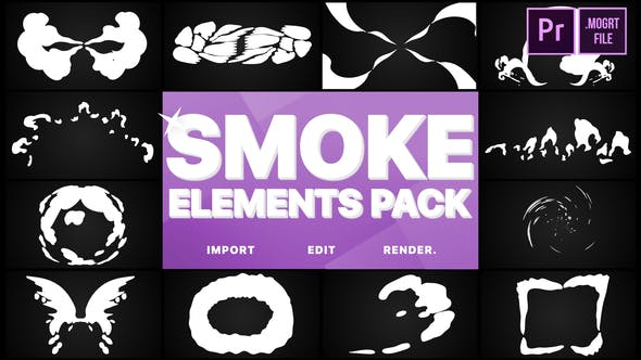 Thumbnail for Smoke Elements Pack | Premiere Pro MOGRT