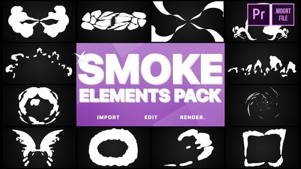 Thumbnail for Pack d'éléments fumés | Premiere Pro MOGRT