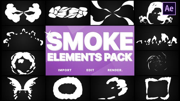 Thumbnail for Smoke Elements Pack | After Effects