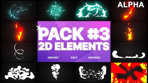 Thumbnail for Flash FX Elements Pack 03 | Motion Graphics Pack