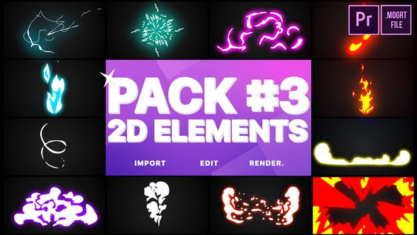 Thumbnail for Flash FX Elements Pack 03 | Premiere Pro MOGRT