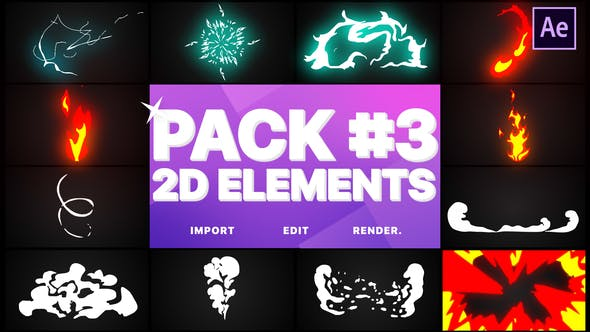 Thumbnail for Flash FX Elements Pack 03 | After Effects