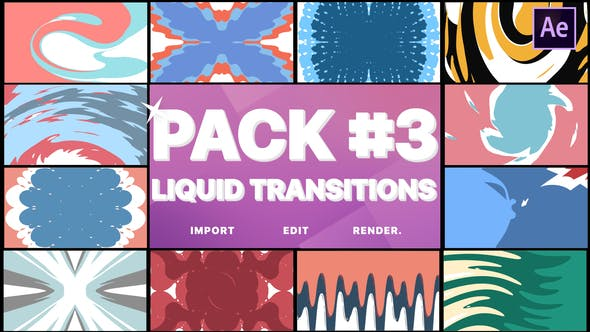 Thumbnail for Liquid Transitions Pack 03 | After Effects