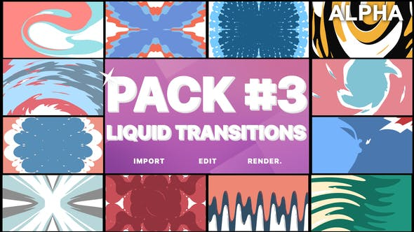 Thumbnail for Liquid Transitions Pack 03 | Motion Graphics Pack
