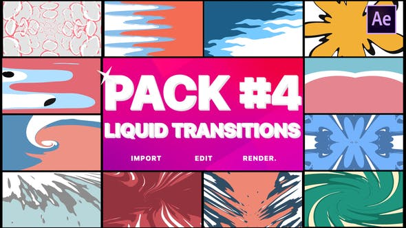 Thumbnail for Liquid Transitions Pack 04 | After Effects