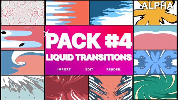 Thumbnail for Liquid Transitions Pack 04 | Motion Graphics Pack