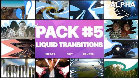 Thumbnail for Liquid Transitions Pack 05 | Motion Graphics Pack