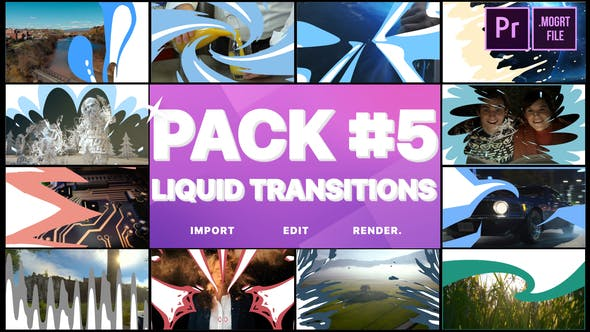 Thumbnail for Liquid Transitions Pack 05 | Premiere Pro MOGRT