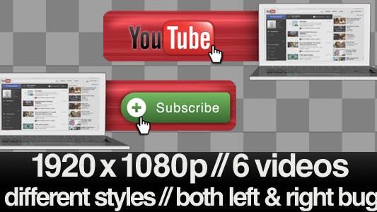 Thumbnail for Youtube Subscribe Lower 3rd Bug - 3 Styles + Alpha