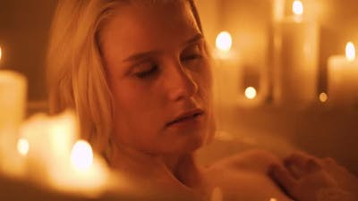 The Girl Takes a Bath By Candlelight