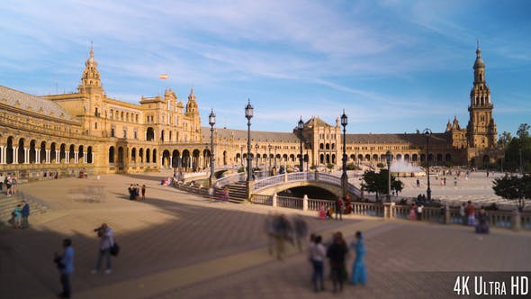 Thumbnail for 4K The Plaza de Espana, Spain Square