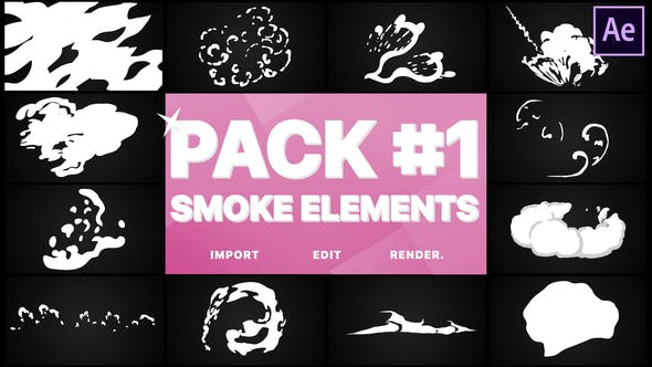 Cover Image for Smoke Elements Pack 01   After Effects