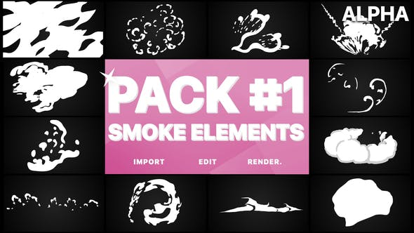 Smoke Elements Pack 01 | Motion Graphics Pack