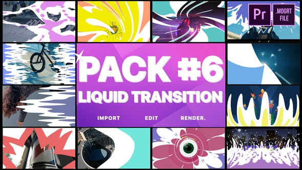 Cover Image for Liquid Transitions Pack 06 | Premiere Pro MOGRT