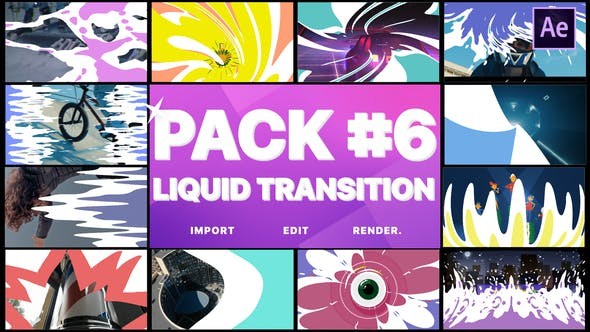 Thumbnail for Liquid Transitions Pack 06 | After Effects