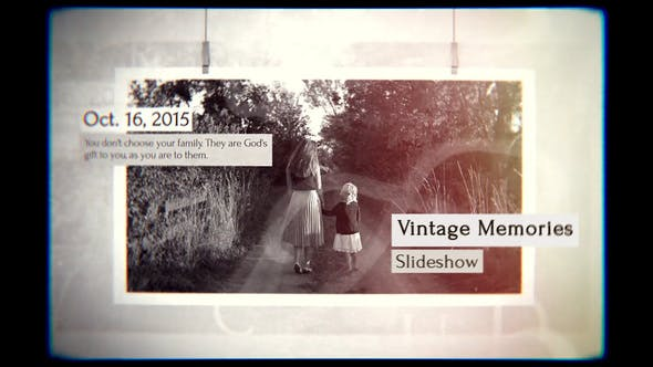 Cover Image for Vintage Memories Slideshow