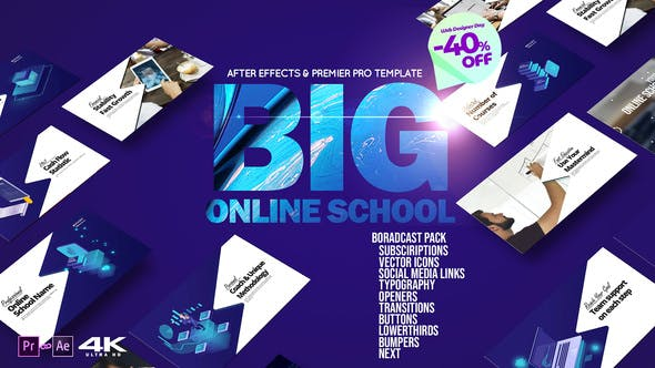 Thumbnail for Big Online School Broadcast Pack