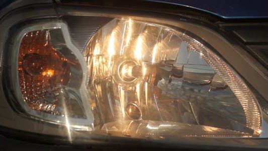 Blinkendes Auto Headligths