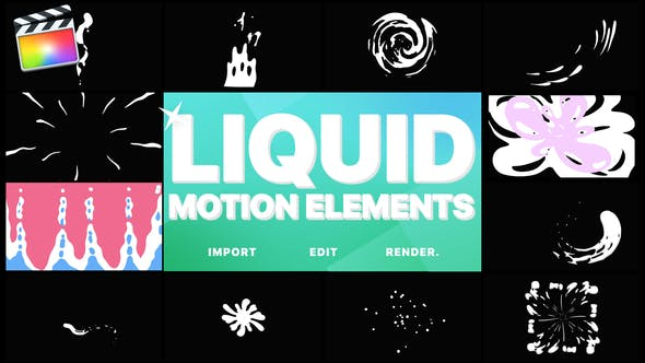 Thumbnail for Liquid Motion Elements | FCPX