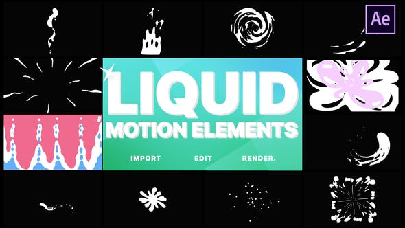 Thumbnail for Liquid Motion Elements | After Effects