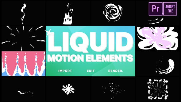 Thumbnail for Liquid Motion Elements | Premiere Pro MOGRT