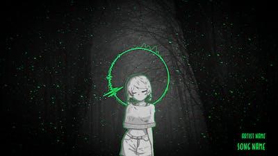Animated Audio Spectrum Music Visualizer
