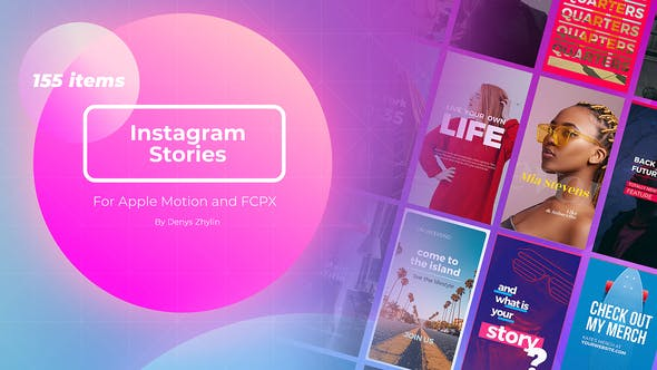 Instagram Stories Builder for Apple Motion and FCPX