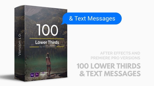 Thumbnail for 100 Lower Thirds and Messages for Premiere Pro & After Effects