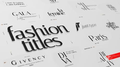 Just Type   Fashion Titles