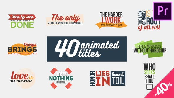 Thumbnail for 40 Animated Titles