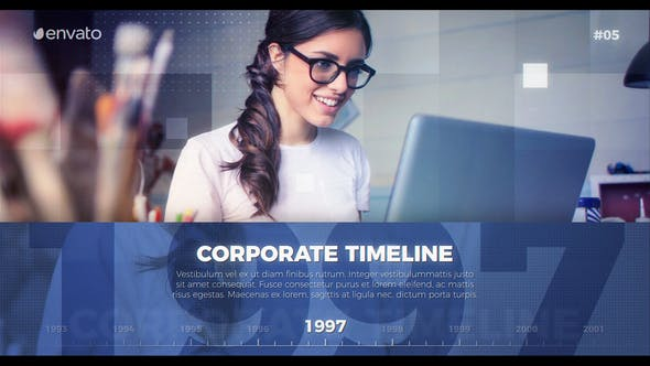Thumbnail for Corporate Timeline Presentation