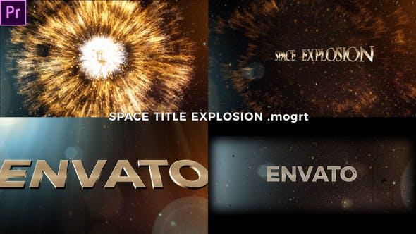 Thumbnail for Space Title Explosion (Mogrt)