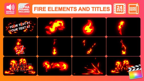 Thumbnail for Fire Elements Pack | FCPX