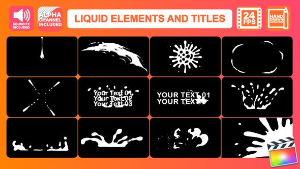 Thumbnail for Liquid Motion Elements And Titles | Final Cut Pro
